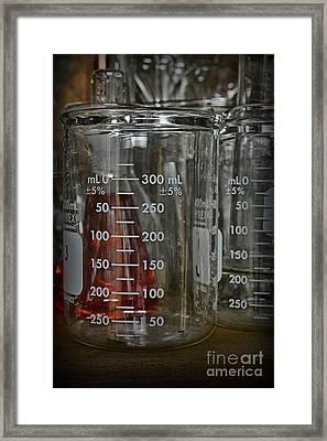 Science Glass Beaker Framed Print