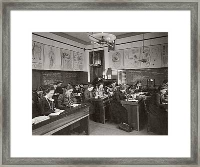 Science Students Framed Print by The Miriam And Ira D. Wallach Division Of Art, Prints And Photographs: Photography Collection/new York Public Library