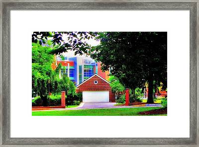 Science Walk Framed Print by Luis A Vera