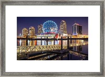 Science World In Vancouver Framed Print by Alexis Birkill