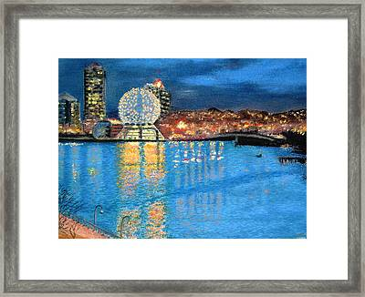 Science World Twilight Framed Print