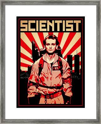 Scientist Framed Print by Lance Vaughn