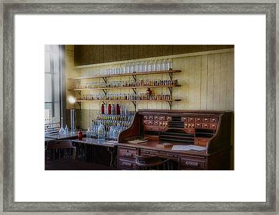 Scientist Office Framed Print by Susan Candelario