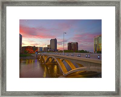 Scioto Morning 50526 Framed Print