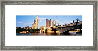 Scioto River, Columbus, Ohio, Usa Framed Print by Panoramic Images
