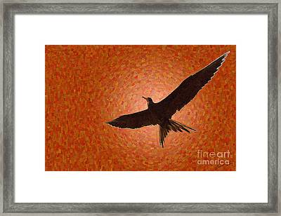 Scissor Bird Framed Print