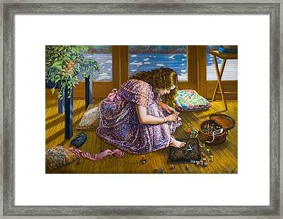 Scissors And Toes Framed Print by Dominique Amendola