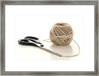 Scissors And Twine Framed Print