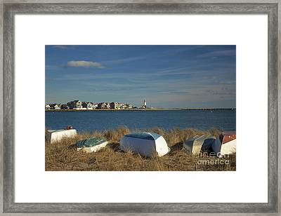 Scituate Harbor Boats Framed Print