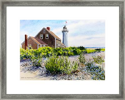 Scituate Light By Day Framed Print
