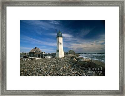 Scituate Lighthouse Framed Print by Bruce Roberts