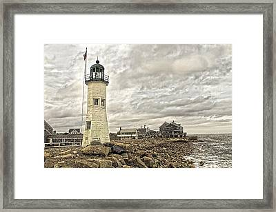 Framed Print featuring the photograph Scituate Lighthouse by Constantine Gregory