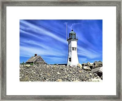 Scituate Lighthouse Framed Print