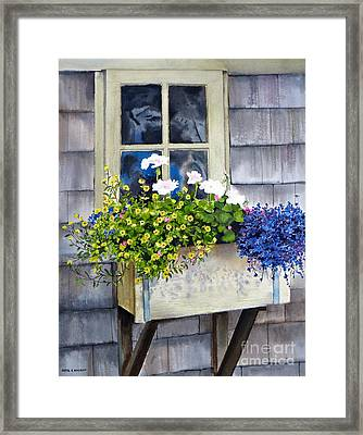 'sconset Window Box Framed Print by Karol Wyckoff