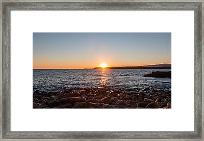 Scoodic Park Sunset  Framed Print