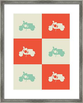 Scooter Poster Framed Print by Naxart Studio