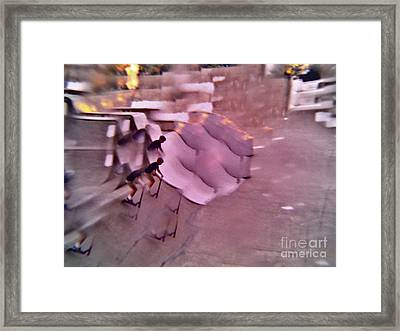 Scooters Gone Wild Series 1 Framed Print by Paddy Shaffer