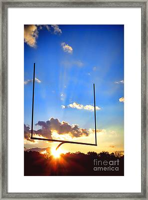 Score Framed Print by Olivier Le Queinec