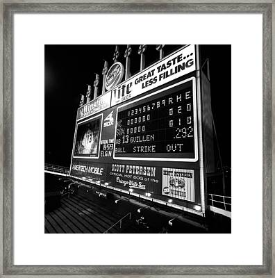 Scoreboard In A Baseball Stadium, U.s Framed Print by Panoramic Images