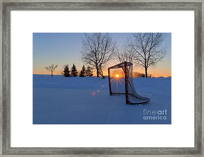 Scoring The Sunset Framed Print