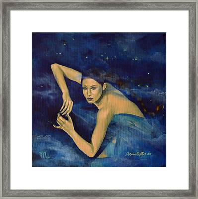 Scorpio From Zodiac Series Framed Print by Dorina  Costras