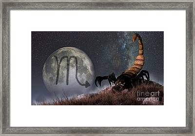 Scorpio Is The Eighth Astrological Sign Framed Print
