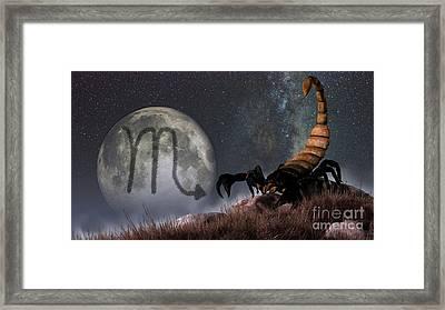 Scorpio Is The Eighth Astrological Sign Framed Print by Daniel Eskridge