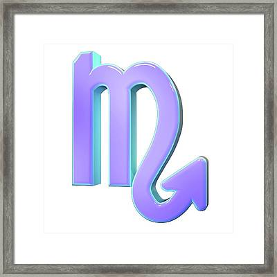 Scorpio Sign Of The Zodiac Framed Print