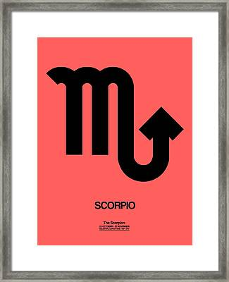 Scorpio Zodiac Sign Black Framed Print