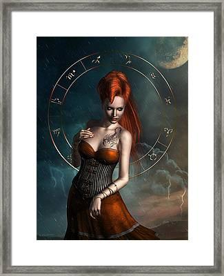 Scorpio Zodiac Sign Framed Print by Britta Glodde