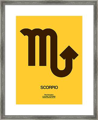 Scorpio Zodiac Sign Brown Framed Print by Naxart Studio