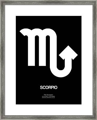 Scorpio Zodiac Sign White Framed Print