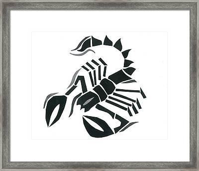 Scorpion Framed Print by Earl ContehMorgan