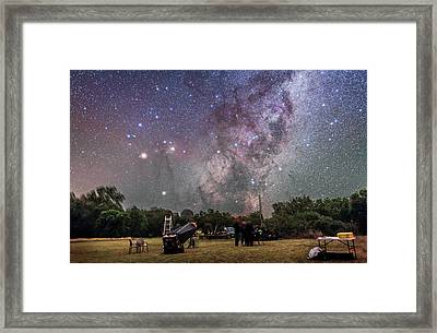 Scorpius Rising At Ozsky Star Party Framed Print
