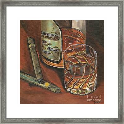 Scotch And Cigars 3 Framed Print by Debbie DeWitt