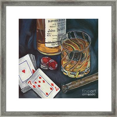 Scotch And Cigars 4 Framed Print by Debbie DeWitt