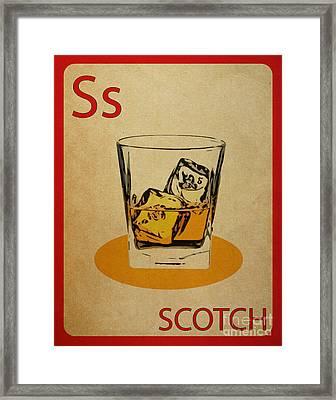 Scotch Vintage Flashcard Framed Print by Mynameisjz JZ