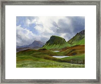 Scotland Highlands Landscape Framed Print by Sharon Freeman