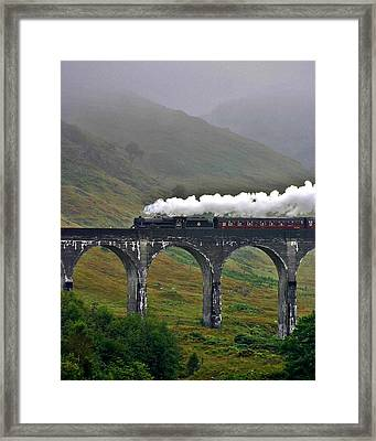 Scotland Steam Train And Bridge Framed Print