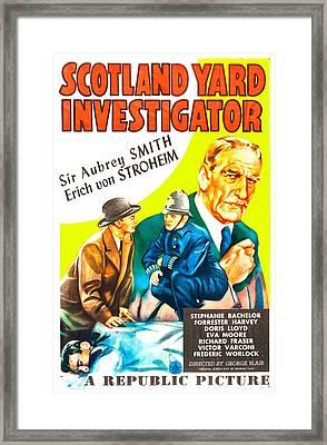 Scotland Yard Investigator, Us Poster Framed Print by Everett