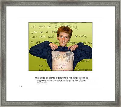 Scot's Poem Framed Print by Mike Hoyle