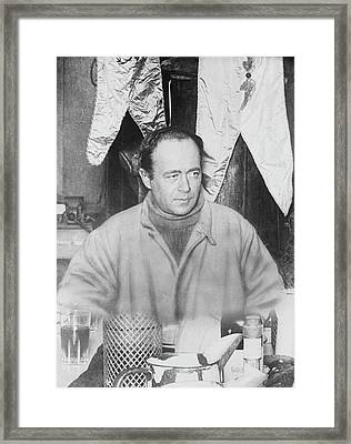 Scott At Antarctic Winter Party Framed Print by Scott Polar Research Institute