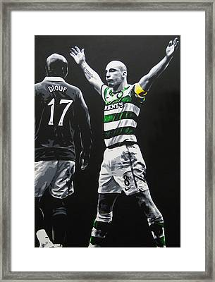 Scott Brown - Celtic Fc Framed Print