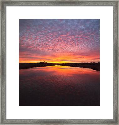 Scott Creek Sunset Panorama 03 Framed Print