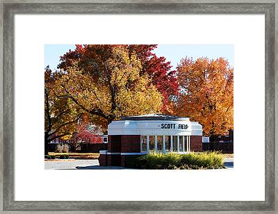 Scott Field  Old Main Gate  Framed Print