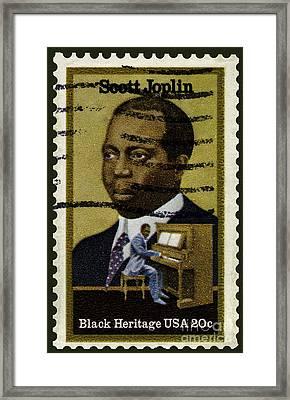 Scott Joplin Stamp Framed Print