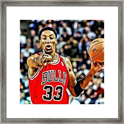 Scottie Pippen Framed Print
