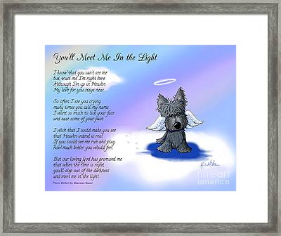 Scottie Terrier Angel And Poem Framed Print by Kim Niles