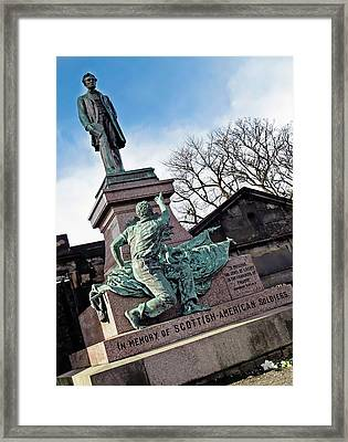 Scottish American Soldiers Monument Framed Print by Victor Habbick Visions