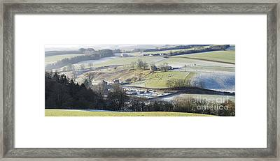 Scottish Border Winter Light Framed Print by Tim Gainey